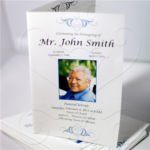 Design Your Own Half Fold Funeral Program